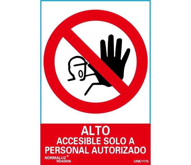 Accesible Solo Personal Autorizado