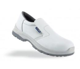 talla 40 869e3 594a5 Zapato blanco de seguridad en microfibra S2 . Calzado de trabajo.