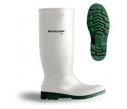 Bota de agua Dunlop blanca de PVC