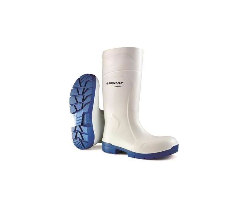 Bota Dunlop S4 blanca de PVC