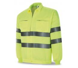 Cazadora alta visibilidad reflectante economica amarilla