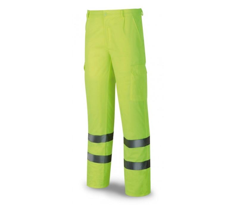 Pantalón económico de alta visibilidad amarillo
