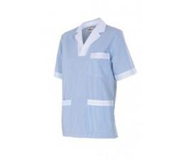 Camisola pijama rayas manga corta