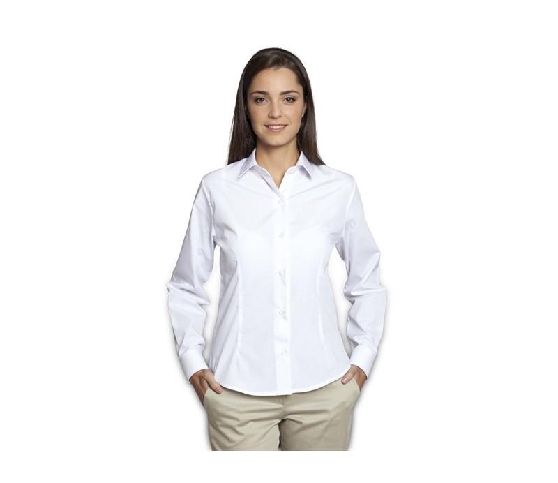 739cc004e Camisa de mujer manga larga sin bolsillos modelo Galerna