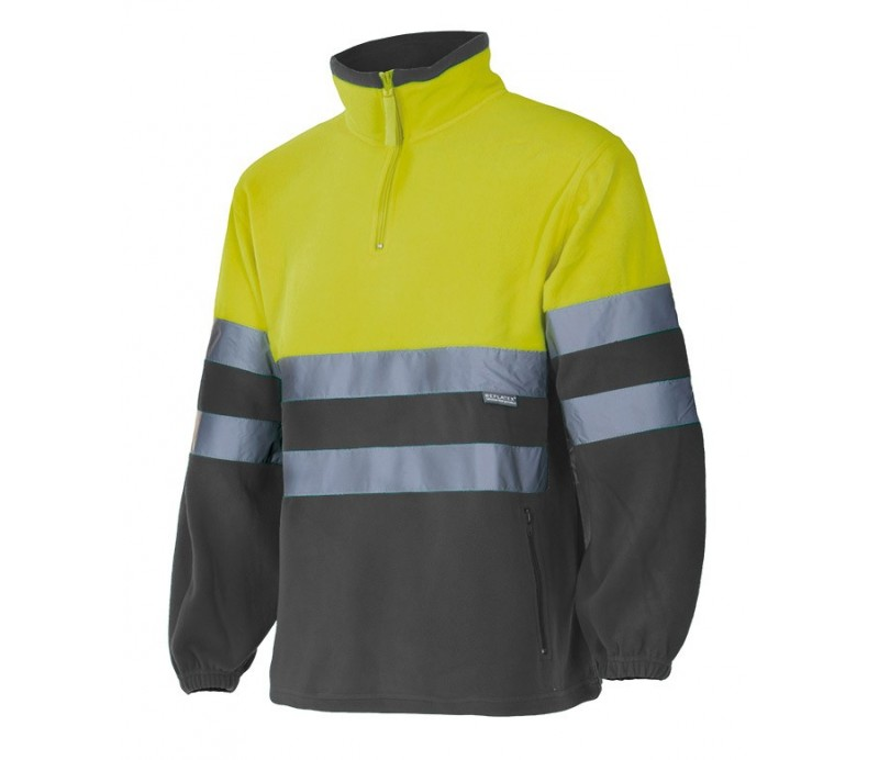 Forro Polar reflectante 182 amarillo gris