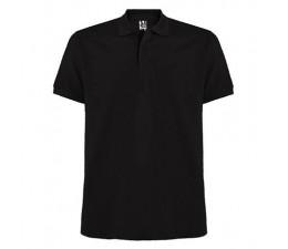 Polo negro manga corta barato