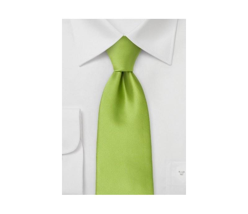Corbata enganche clip verde pistacho manzana vigilantes