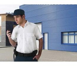 Camisa manga corta de vigilante blanca