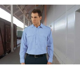 Camisa manga larga de vigilante celeste