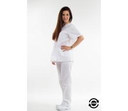Pijama tergal blanco sanitario