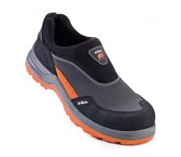 Zapato de seguridad de serraje sin cordones