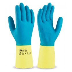 Guantes duocolor latex-neopreno