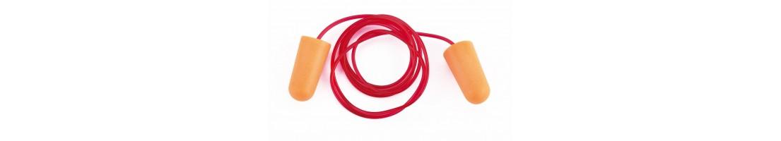 Protección auditiva. Tapones antirruido. Protección oído. EPI.